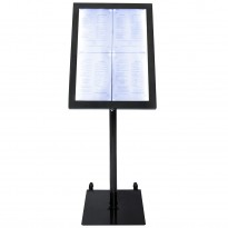 Information display set black incl base 4x A4