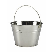 Stainless steel serving bucket 25 cm silver