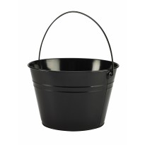 Stainless steel serving bucket 25 cm black