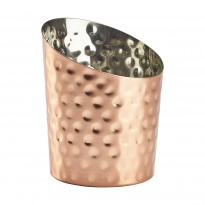 Copper Hammered Angled Cone 11,6X9,5Cm